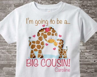 Big Cousin Shirt - Big Cousin Onesie - Big Cousin Little Cousin - Big Cousin tshirt - Big Cousin Onsie - Giraffe Big Cousin Gift 04122012a
