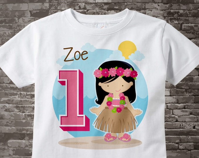 First Birthday Shirt or Onesie, Luau Hawaiian 1 Birthday, Any Age Personalized Shirt, Hawaiian Theme Birthday Party 08202015a