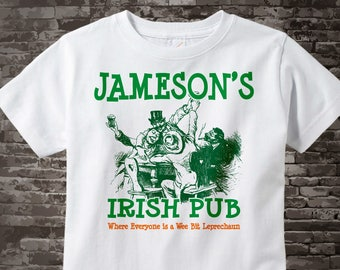 St Patrick's Day Shirt - Your Last name as an Irish Pub logo - Custom Irish Pub tshirt - 08212015c