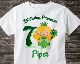7th Birthday Shirt - Personalized Irish Princess Shirt - Irish Birthday Shirt - Seven year old girl Gift 02092017b