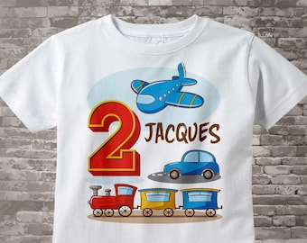 Transportation Birthday party - Transportation Birthday shirt - Plane Train Automobile Transportation birthday party theme 01312017c
