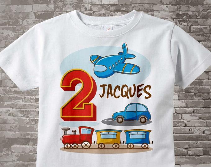 Transportation Birthday party - Transportation Birthday shirt - Plane Train Automobile Transportation birthday party theme 01312017c