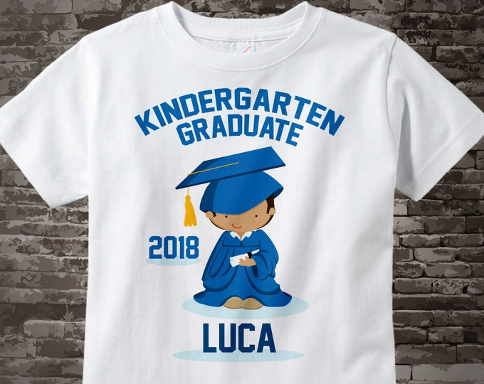 Personalized Kindergarten Graduate Shirt Kindergarten Graduation Shirt Child's Graduation Shirt 05282015f