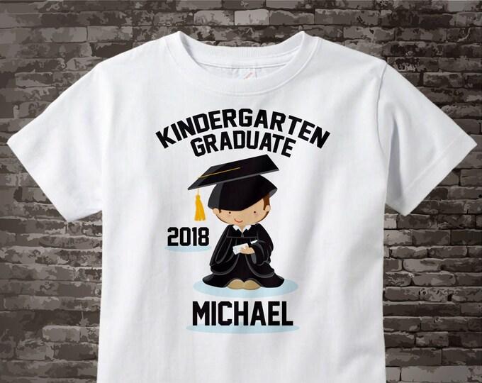 Personalized Kindergarten Graduate Shirt Kindergarten Graduation Shirt Child's Graduation Shirt 05062015h