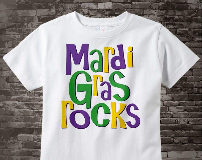Mardi Gras Rocks Shirt, Mardi Gras Shirt or Onesie, Mardi Gras Shirt 01182010a