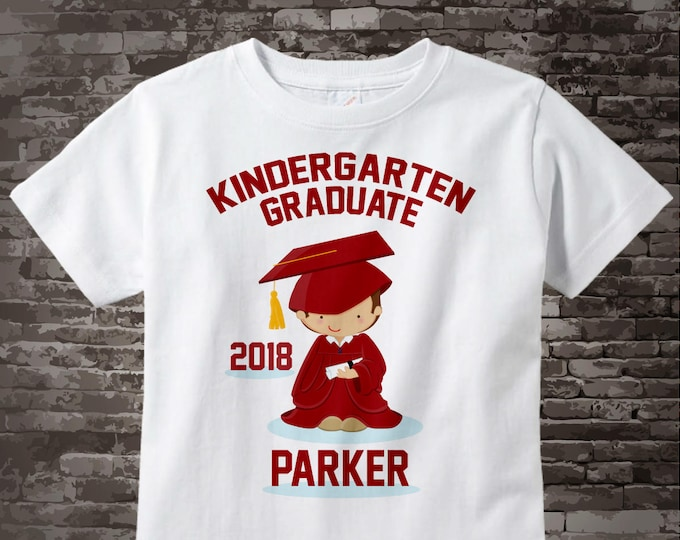 Personalized Kindergarten Graduate Shirt Kindergarten Graduation Shirt Child's Back To School Shirt 05022014a