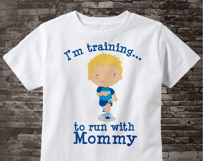 Personalized I'm Training to Run with Mommy Children's Tee Shirt or Onesie 10032013b