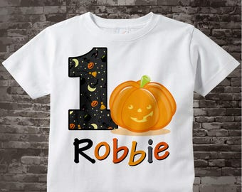 Pumpkin First Birthday Shirt, one year old halloween outfit, Fall Birthday party, Pumpkin Birthday Party, Fall Birthday 10022012b