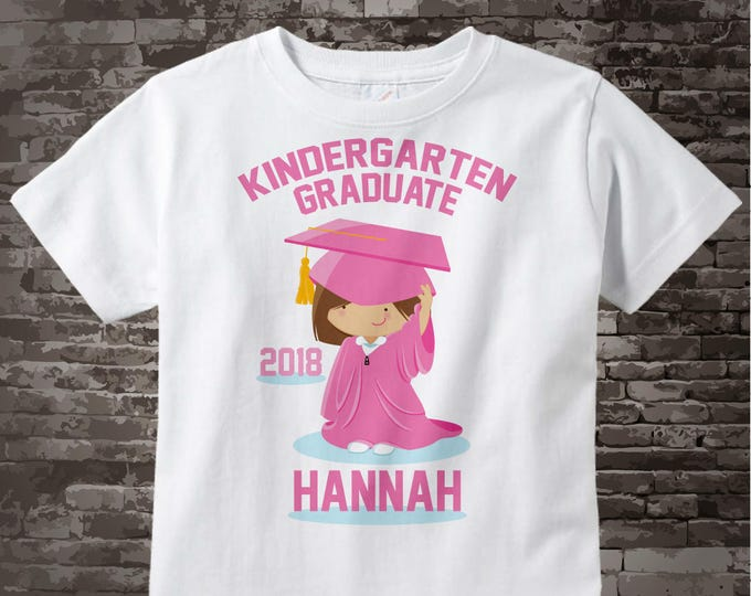Kindergarten Graduate Shirt, Kindergarten Graduation Shirt, Personalized for your little girl with year and name 05122014d