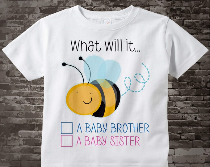 Gender Reveal Shirt - Gender Reveal Party t shirt - Baby Gender Reveal Shirt - What will it Bee Gender Reveal Shirt Outfit 01272016j