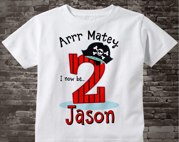 Pirate Birthday T-Shirt or Onesie Bodysuit for 2 year old boy | Personalized 09192014d