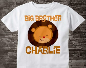 Personalized Big Brother Lion Head Tee shirt or Onesie 09172012j