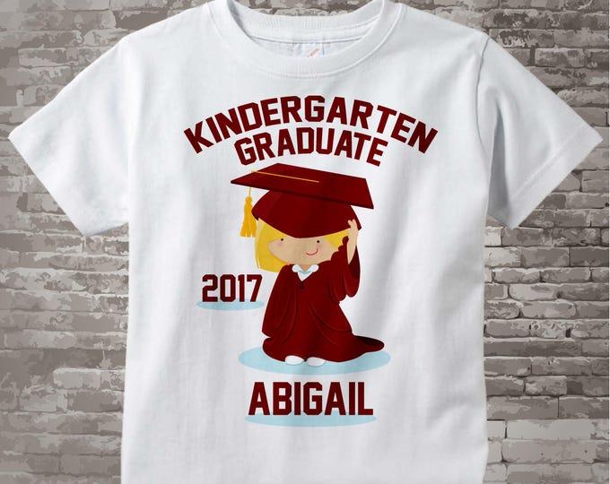 Personalized Kindergarten Graduate Shirt Kindergarten Graduation Shirt Child's Back To School Shirt or Onesie 05102017b