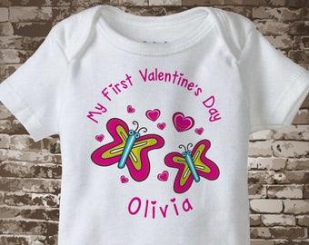 Baby Valentine Bodysuit, First Valentines Day Outfit, First Valentines Day Girl, First Valentines Day Onesie, Baby Bodysuit 01202017m
