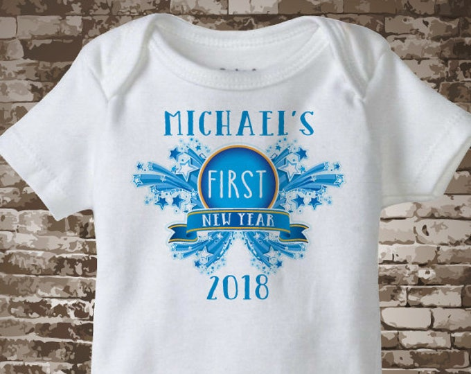 1st New Year Outfit, My First New Year Onesie, Personalized 1st New Years Shirt or Onesie, New Years Outfit 12062016a