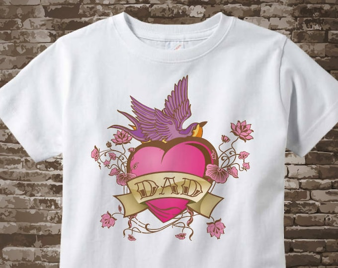 Valentine's Kids, Pink Tattoo Shirt, Personalized Pink Tattoo Heart Shirt or Onesie with Any Name, Valentine - Heart t-shirt kids 12302015z