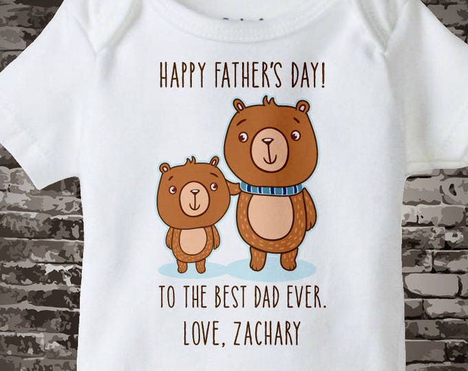 Fathers Day Gift from Son | Father's day gift | Happy Father's Day | Happy Fathers Day | Fathers day shirt | Father's Day Onesie  06032017a