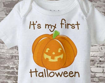 Baby's first Halloween Outfit Onesie outfit or Shirt, 1st Halloween Shirt or Onesie outfit, Cute Pumpkin Shirt outfit 08252011a