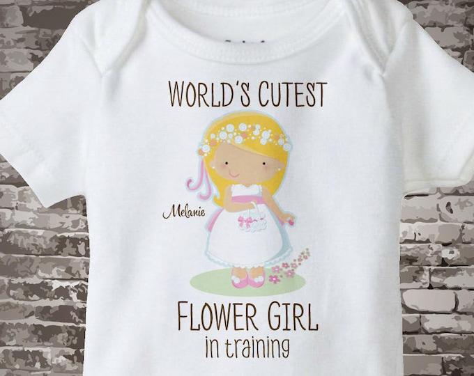 Flower Girl Gift - Flower Girl Shirt or Onesie Bodysuit, Personalized Flower girl in training Bodysuit - Flower Girl Onesie Gift 01272016e