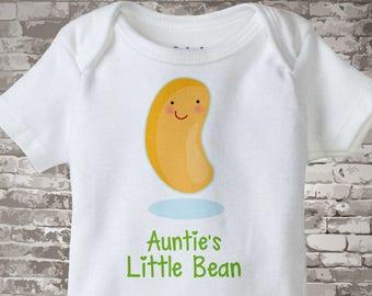Cute little bean Onesie Bodysuit or Tee Shirt, Says Auntie's Little Bean. 06112015a