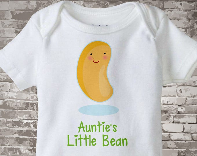 Cute little bean Onesie Bodysuit or Tee Shirt, Says Auntie's Little Bean. 06112015a