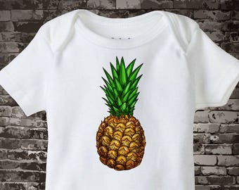 Tropical Fruit Onesie Bodysuit or T-shirt, Pineapple Tropical Fruit Shirt or One Piece, 07192017b