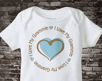 I Love my Grammie T-shirt or Onesie Bodysuit for baby boys 03182015i
