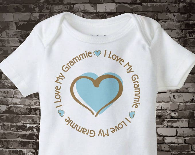 I Love my Grammie T-shirt or Onesie Bodysuit for baby boys 03182015i