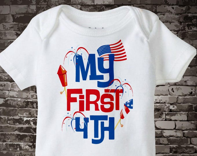 4th July Onesie | My First 4th of July Tee Shirt or Onesie, My 1st July 4th Onesie | 4th July Shirt or Onesie | 1st 4th July 06182012a