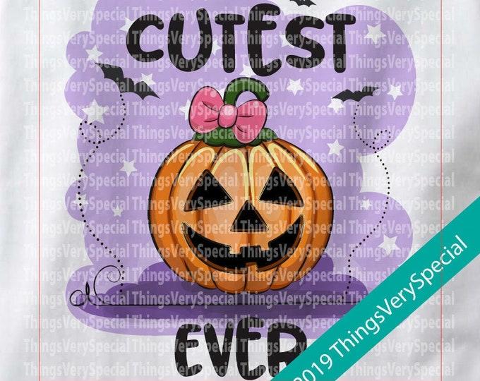 Cutest Pumpkin Ever Halloween Outfit Onesie or Shirt, Cutest Pumpkin Halloween Shirt or Onesie outfit 08162019d