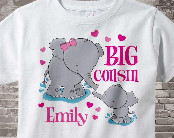 Elephant Big Cousin Shirt Big Cousin Elephant Tee Shirt or Big Cousin Onesie Pregnancy Announcement 04182014f