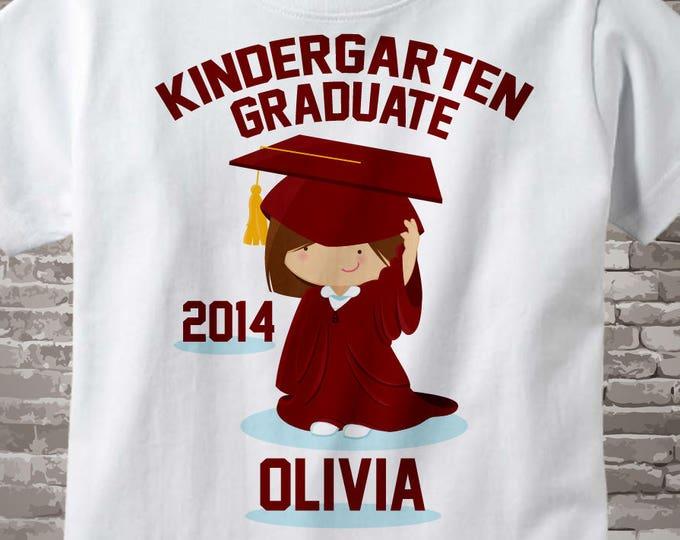 Personalized Kindergarten Graduate Shirt Kindergarten Graduation Shirt Child's Back To School Shirt or Onesie 03152013c