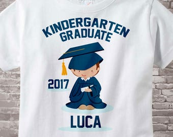 Personalized Kindergarten Graduate Shirt Kindergarten Graduation Shirt Child's Last Day of School Shirt 05182012a