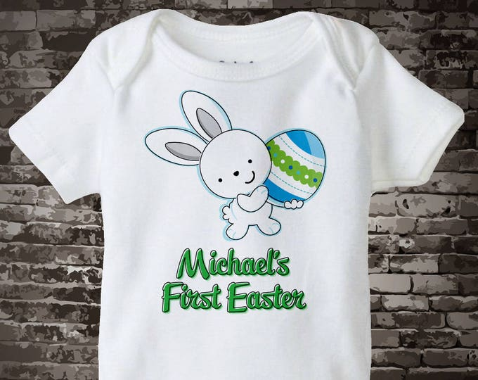 It's My First Easter Shirt, Personalized Baby's 1st Easter Shirt or Onesie, Easter Bunny and Egg Shirt for Toddlers and Kids 01202014d
