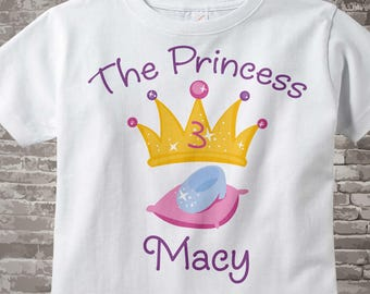 3rd Birthday shirt, Personalized Princess Third Birthday Girl Tee Shirt or Onesie any Age 03042014g