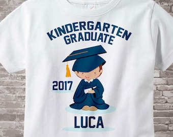 Personalized Kindergarten Graduate Shirt Kindergarten Graduation Shirt Child's Back To School Shirt 05182012a