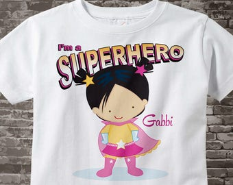 Girl's Personalized Superhero Child's Tee Shirt or Onesie