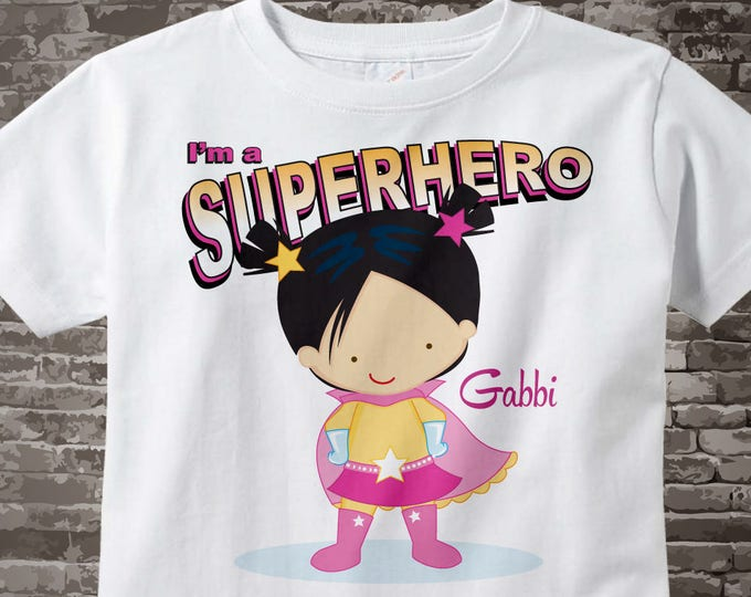 Girl's Personalized Superhero Child's Tee Shirt or Onesie