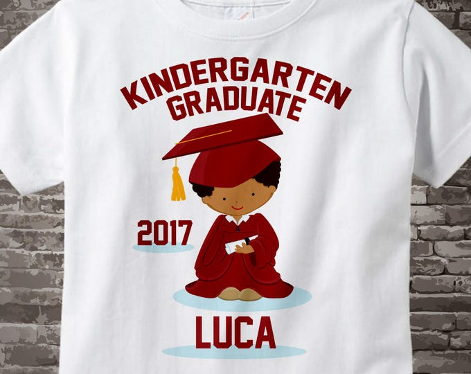Personalized Kindergarten Graduate Shirt Kindergarten Graduation Shirt Child's Back To School Shirt 05072014c