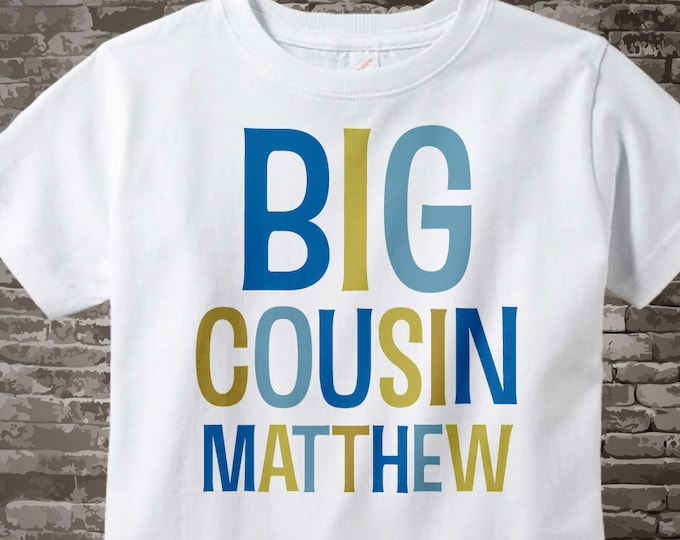 Big Cousin Shirt or Onesie, Personalized Big CousinShirt, Infant, Toddler or Youth sizes t-shirt 03142012c
