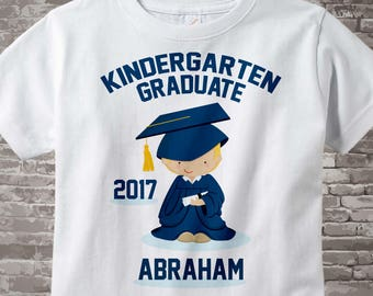 Personalized Kindergarten Graduate Shirt, Kindergarten Graduation Shirt Child's Back To School Shirt 05302013a