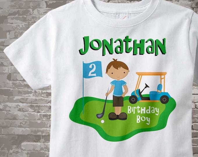 2nd Birthday Golf Theme Shirt Personalized Second Birthday Boy Golfer Tee Shirt 02062014d