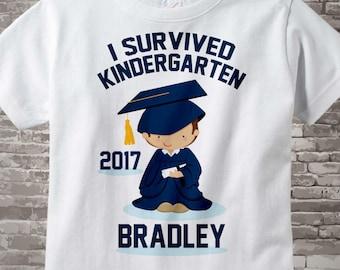 Personalized I Survived Kindergarten Shirt Kindergarten Graduate Shirt Child's Back To School Shirt 04152014i