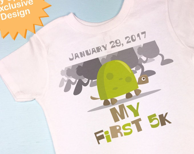 My First 5K Running Tee shirt or Onesie. (09292014d)