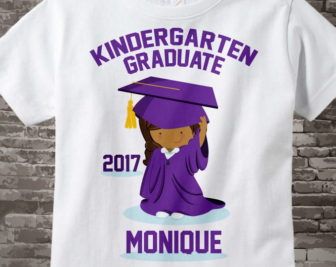 Personalized Kindergarten Graduate Shirt Kindergarten Graduate Shirt Child's Back To School Shirt 05112015g