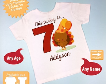 Turkey Birthday shirt - Birthday Girl shirt - Turkey Thanksgiving birthday party theme 10252016b