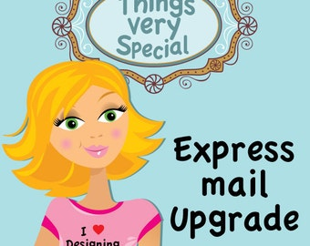 Express Mail Shipping Upgrade Option available for purchases