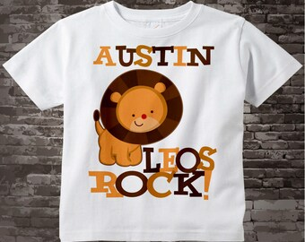 Leo Zodiac, Leo Lion Shirt or Onesie, Leos Rock Lion July or August Birthday Baby Tee Shirt or Onesie 08022011a