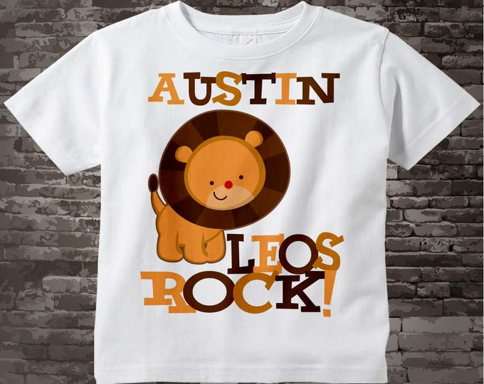 Leo Zodiac, Leo Lion Shirt or Onesie, Leos Rock Lion July or August Birthday Baby Tee Shirt or Onesie 08022011a