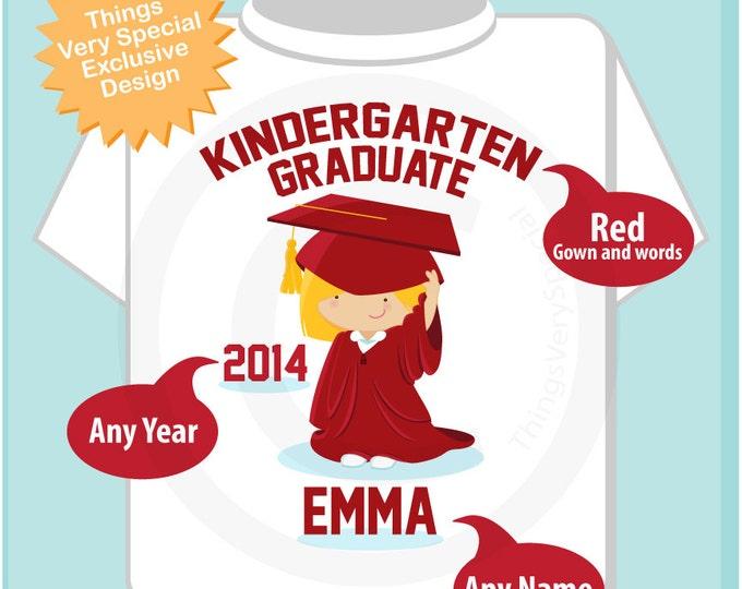 Personalized Kindergarten Graduate Shirt Kindergarten Graduation Shirt Child's Back To School Shirt or Onesie (05102013b)